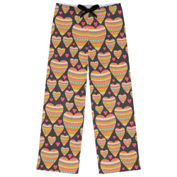 Hearts Womens Pajama Pants (Personalized)