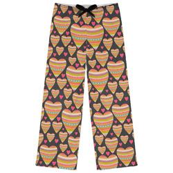 Hearts Womens Pajama Pants (Personalized)