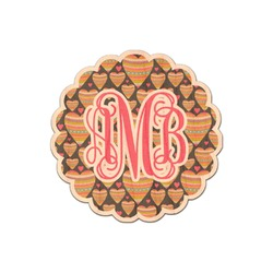 Hearts Genuine Wood Sticker (Personalized)