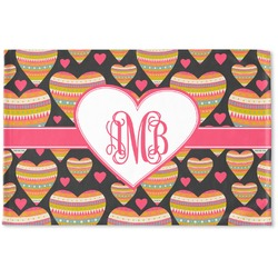 Hearts Woven Mat (Personalized)
