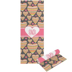 Hearts Yoga Mat - Printable Front and Back (Personalized)