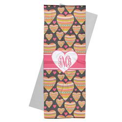 Hearts Yoga Mat Towel (Personalized)