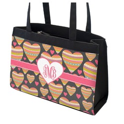 Hearts Zippered Everyday Tote (Personalized)