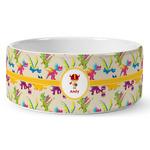 Dragons Ceramic Dog Bowl (Personalized)