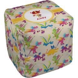 Dragons Cube Pouf Ottoman (Personalized)