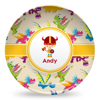 Dragons Microwave Safe Plastic Plate - Composite Polymer (Personalized)
