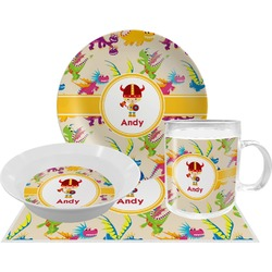 Dragons Dinner Set - 4 Pc (Personalized)