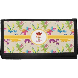 Dragons Canvas Checkbook Cover (Personalized)