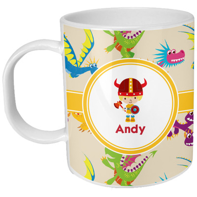 Dragons Plastic Kids Mug (Personalized)
