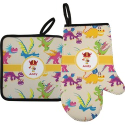 Dragons Oven Mitt & Pot Holder (Personalized)