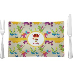 Dragons Glass Rectangular Lunch / Dinner Plate - Single or Set (Personalized)