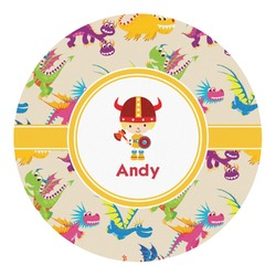 Dragons Round Decal - Custom Size (Personalized)