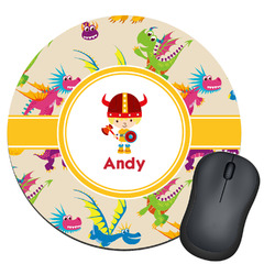Dragons Round Mouse Pad (Personalized)