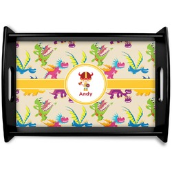 Dragons Black Wooden Tray (Personalized)