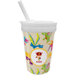 Dragons Sippy Cup with Straw (Personalized)
