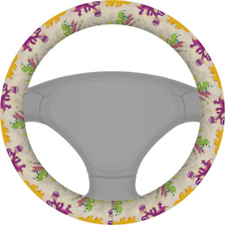Dragons Steering Wheel Cover (Personalized)