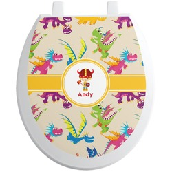Dragons Toilet Seat Decal (Personalized)