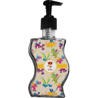 Dragons Wave Bottle Soap / Lotion Dispenser (Personalized)