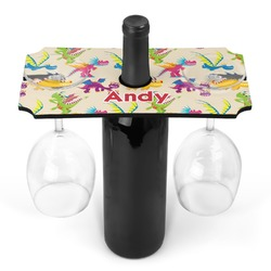 Dragons Wine Bottle & Glass Holder (Personalized)