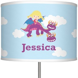 "Girl Flying on a Dragon 13"" Drum Lamp Shade (Personalized)"