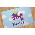Girl Flying on a Dragon Area Rug (Personalized)
