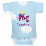 Girl Flying on a Dragon Baby Bodysuit (Personalized)