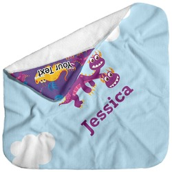 Girl Flying on a Dragon Baby Hooded Towel (Personalized)