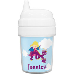Girl Flying on a Dragon Baby Sippy Cup (Personalized)