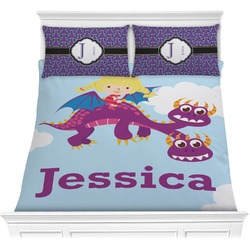 Girl Flying on a Dragon Comforters (Personalized)