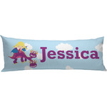 Girl Flying on a Dragon Body Pillow Case (Personalized)