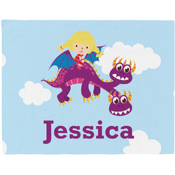 Girl Flying on a Dragon Placemat (Fabric) (Personalized)