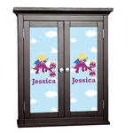 Girl Flying on a Dragon Cabinet Decal - Custom Size (Personalized)