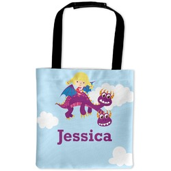 Girl Flying on a Dragon Auto Back Seat Organizer Bag (Personalized)