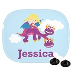 Girl Flying on a Dragon Car Side Window Sun Shade (Personalized)