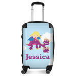 Girl Flying on a Dragon Suitcase (Personalized)