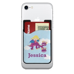 Girl Flying on a Dragon 2-in-1 Cell Phone Credit Card Holder & Screen Cleaner (Personalized)