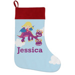 Girl Flying on a Dragon Holiday Stocking w/ Name or Text