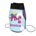 Girl Flying on a Dragon Neoprene Drawstring Backpack (Personalized)