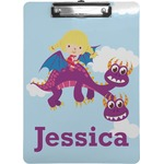 Girl Flying on a Dragon Clipboard (Personalized)