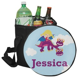 Girl Flying on a Dragon Collapsible Cooler & Seat (Personalized)