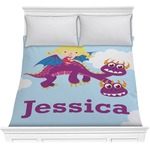 Girl Flying on a Dragon Comforter (Personalized)