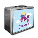 Girl Flying on a Dragon Lunch Box (Personalized)
