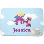 Girl Flying on a Dragon Dish Drying Mat (Personalized)