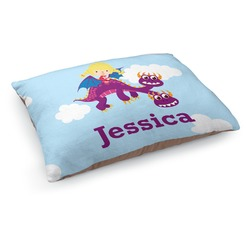 Girl Flying on a Dragon Dog Pillow Bed (Personalized)