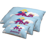 Girl Flying on a Dragon Dog Bed w/ Name or Text