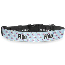 Girl Flying on a Dragon Deluxe Dog Collar (Personalized)