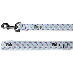 Girl Flying on a Dragon Deluxe Dog Leash - 4 ft (Personalized)