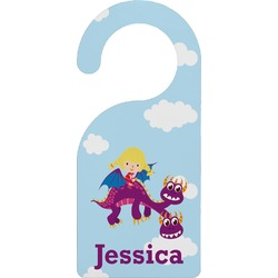 Girl Flying on a Dragon Door Hanger (Personalized)