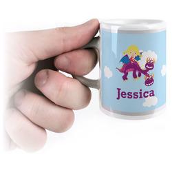 Girl Flying on a Dragon Espresso Mug - 3 oz (Personalized)