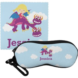 Girl Flying on a Dragon Eyeglass Case & Cloth (Personalized)